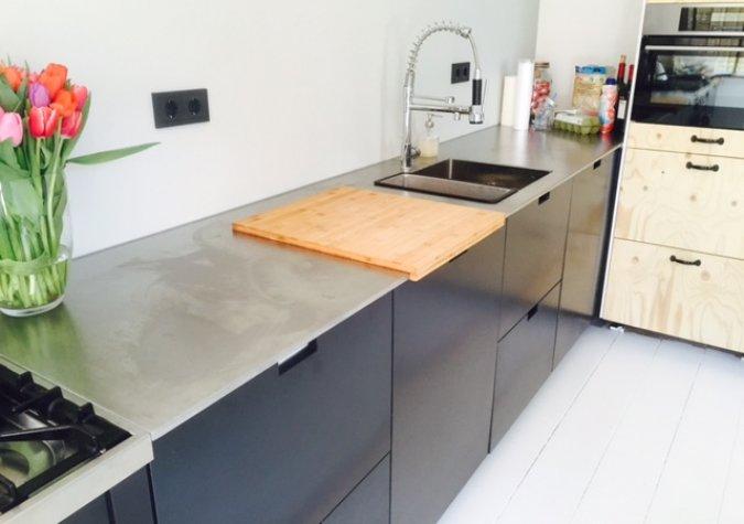 Blauwstaal Keuken : Blauwstalen keukenfrontjes – AFA metaalbewerking